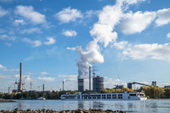 HKM producing steel close to the river rhine Stock Images