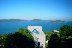 HKUST-universitetsområde Royaltyfri Bild