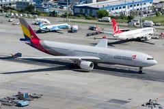 HL8258 Asiana Airlines Aerobus A330-231 Fotografia Royalty Free