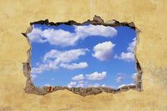 Hål i vägg Arkivfoto