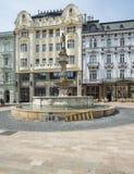 Hlavne namestie bratislava slovakia europe. Vertical view of hlavne namestie in bratislava Royalty Free Stock Photo