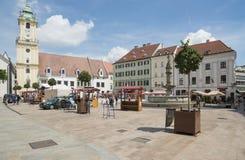 Hlavne namestie bratislava slovakia europe. View of hlavne namestie in bratislava Royalty Free Stock Images