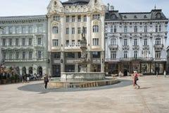 Hlavne namestie bratislava slovakia europe. View of hlavne namestie in bratislava Stock Image