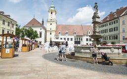 Hlavne namestie bratislava slovakia europe. View of hlavne namestie in bratislava Stock Photo