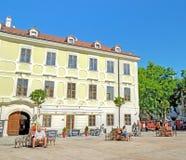 Hlavne namestie square in Bratislava, Slovakia. Royalty Free Stock Image