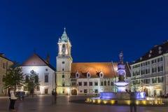 Hlavne Square in Bratislava Stock Photo