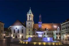 Hlavne Square in Bratislava Stock Image