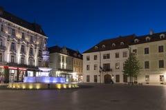 Hlavne Square in Bratislava Royalty Free Stock Images