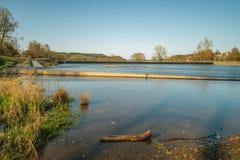Hle del ¼ di Pielmà del bagno del fiume al fiume Regen in Lappersdorf vicino a Regensburg, Baviera, Germania Fotografie Stock Libere da Diritti