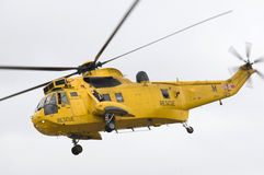 Hélicoptère de sauvetage de Sea King Images stock