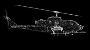 Hélicoptère militaire Image stock