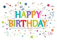 Hälsningar för lycklig födelsedag Fotografering för Bildbyråer