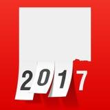 Hälsningkort 2017 för nytt år Arkivbild