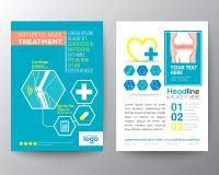 Hälsovård- och för reklamblad för läkarundersökningaffischbroschyr designorientering Arkivbilder
