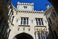 Hluboka城堡墙壁特写镜头  免版税图库摄影