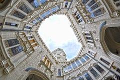 Hluboka castle, beautiful landmark in Czech Republic, HDR Stock Photo