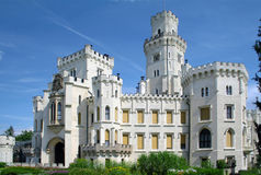 Hluboka castle, beautiful landmark in Czech Republic Royalty Free Stock Photography