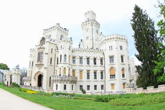 Hluboka Castle. A National Cultural Monument of the Czech Republic. Hluboka Castle is a historic château located in Hluboka nad Vltavou and considered as one of Royalty Free Stock Images