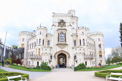 Hluboka Castle. A National Cultural Monument of the Czech Republic. Hluboka Castle is a historic château located in Hluboka nad Vltavou and considered as one of Stock Photo