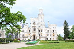Hluboka Castle. A National Cultural Monument of the Czech Republic. Hluboka Castle is a historic château located in Hluboka nad Vltavou and considered as one of Royalty Free Stock Photography