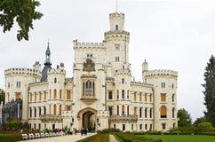 Hluboka nad Vltavou, чехия, 26-ое сентября 2014 vltavou башни nad hluboka замока Стоковое фото RF