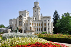 Hluboka nad Vltavou castle. Castle and gardens at Hluboka nad Vltavou, Czech Republic Royalty Free Stock Photos