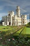 Hluboka nad Vltavou with garden Royalty Free Stock Photos