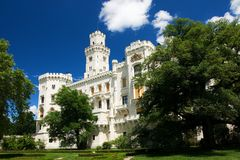 Hluboka nad Vltavou neogothic castle Royalty Free Stock Photography