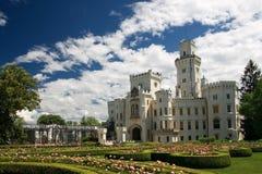 Hluboka nad Vltavou neogothic castle Stock Images