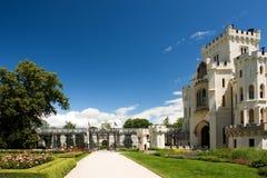 Hluboka nad Vltavou neogothic castle Stock Photography