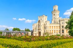 Hluboka nad Vltavou palace, Czech Republic Stock Images
