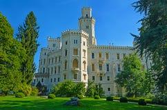 Hluboka nad Vltavou slott Arkivbild