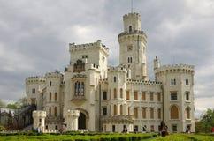 hluboka ponad vltavou zamek Obrazy Royalty Free