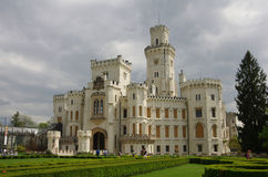 hluboka ponad vltavou zamek Zdjęcie Royalty Free