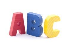 Hölzerne Alphabetblöcke Stockfoto