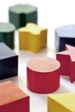Hölzerne Block-Formen Stockfotos