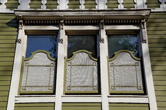 Hölzerne Fenster der Osmane Stockfotografie