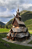 Hölzerne Kirche Borgund-Daube in Norwegen Lizenzfreies Stockfoto