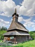 Hölzerne Kirche, Maramures, Rumänien Stockfotografie