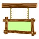 Hölzerne Rahmen auf Ketten. Lizenzfreies Stockbild