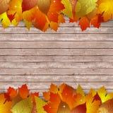 Hölzerner Autumn Notice Lizenzfreie Stockfotografie