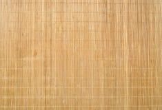 Hölzerner Bambus-Mat Texture Background Lizenzfreies Stockbild