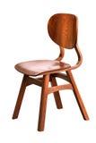 Hölzerner Stuhl über Weiß Stockfoto