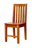 Hölzerner Stuhl über Weiß, mit Ausschnittspfad Stockbild