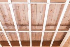 Hölzernes Baugebäude und -erneuerung Stockfotos