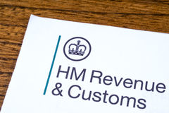 HM Revenue and Customs. LONDON, UK - JANUARY 13TH 2017: The logo of Her Majestys Revneue and Customs on a piece of paper, on 13th January 2017.  HMRC is a non Stock Image