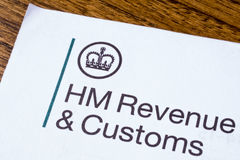 HM Revenue and Customs. LONDON, UK - JANUARY 13TH 2017: The logo of Her Majestys Revneue and Customs on a piece of paper, on 13th January 2017.  HMRC is a non Royalty Free Stock Photo