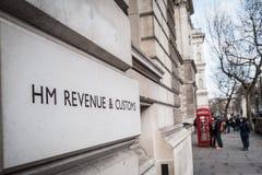 HM Revenue y aduanas Foto de archivo