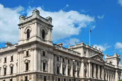 HM Schatkist hoofdkwartier in Londen, het Verenigd Koninkrijk Royalty-vrije Stock Afbeeldingen