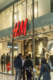 Hm store in bologna. Hm shopping gallery store  entrance with stairs Stock Image
